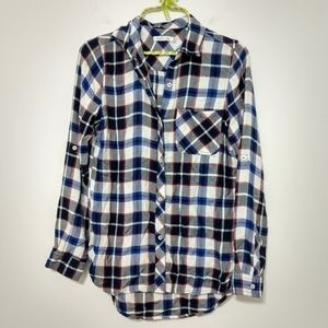 Kenneth Cole Reaction Flannel Button Down Size X